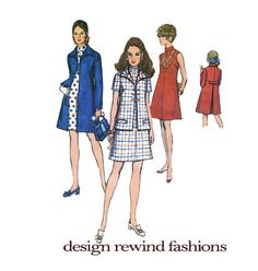 1960s MOD Inverted Back Pleat Lined Coat by DesignRewindFashions, $14.00