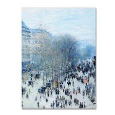 Trademark Fine Art 'Boulevard Des Capucines' Canvas Art by Monet, White