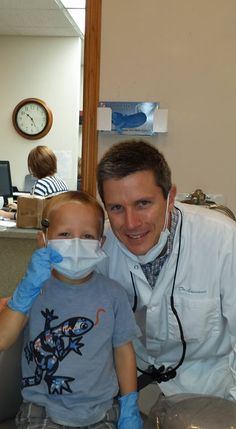 Like father like son? There were definitely lots of giggles coming from Lowman Family Dental today! #Dentist