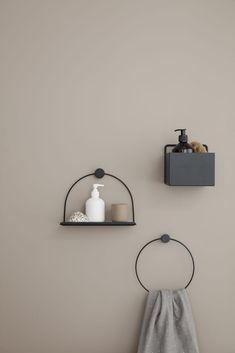 Home Accessories Design Bathroom Storage - Square Wall Box in Black design by Ferm Living Bathroom Shelves, Bathroom Storage, Small Bathroom, Master Bathroom, Bathroom Ideas, Bathroom Renovations, Bathroom Makeovers, Bathroom Mirrors, Shower Ideas