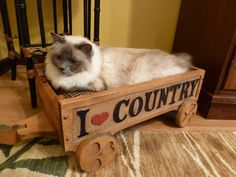 Country Wagon Pet Bed  Dog or Cat by AdoreCustomPetBeds