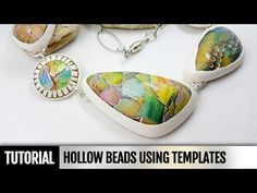 DIY! How to make Hollow beads using templates. Video Tutorial - YouTube
