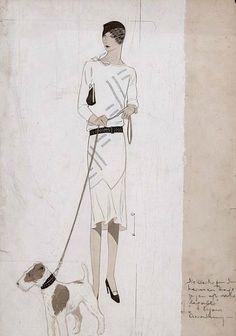 Ernst Dryer, Ladies afternoon dress (1920-29)