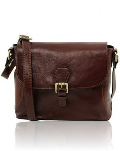 JODY TL141278 Leather shoulder bag with flap - Tracollina in pelle con pattella
