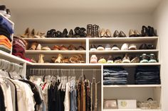 A professional organizer shares how to easily update a closet using inexpensive, yet pretty, modular components. It& easy to update any closet on a budget! Maximize Closet Space, Small Closet Space, Master Closet, Closet Bedroom, Organize Your Life, Organizing Your Home, Rustic Bedroom Design, Closet Layout, Simple Closet