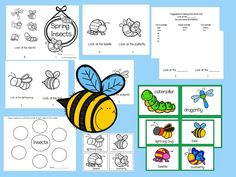 """Need a Level A book for your student's book boxes? This Spring Insects emergent reader will become one of their favorites. My students read it over and over! Great for vocabulary development in ESL students. Play memory with vocabulary cards!  Includes: 8 page book when folded  graphic organizer 8 page blank book with sentence  structure """"Look at the ___.""""  6 insect vocabulary cards in color and black and white  Text pattern is, """"Look at the ____."""""""