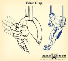 gymnastic rings grip false illustration