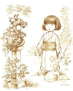 Yoko Tusno BD belge - hommage japon