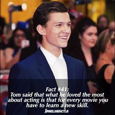 ♡♡  Credits to: tomhollandfacts.ig on Insta
