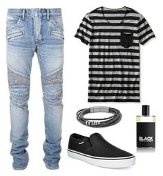"""set8"" by mureet ❤ liked on Polyvore featuring Balmain, Banana Republic, Vans, Comme des Garçons, men's fashion and menswear"