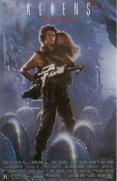 1986 Aliens directed by James Cameron..a more action packed movie compared to 'Alien 'directed by Ridley Scott.  This movie is brilliant. ...I've seen it at least a dozen times (and to it when it came out)!