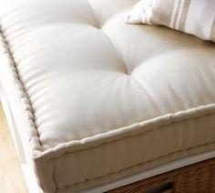 Ballard Essential Farmhouse Cushions Window Seat Natural Linen And