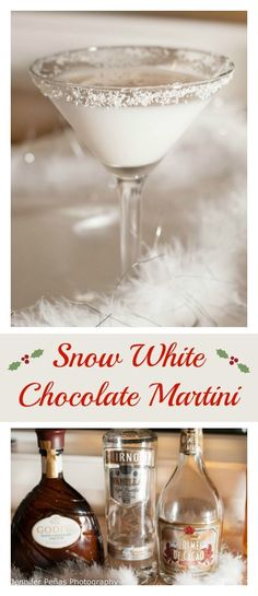 snow white chocolate martini, christmas cocktail, vanilla vodka, white creme de cacao, Godiva white chocolate liqueur Day 292 Snow White Chocolate Martini shots out of 5 Another week is underway. Only a day shy of 3 weeks left o. Vodka Martini, Cocktail Vodka, Cocktail Recipes, Martinis, Cocktail Ideas, Liquor Drinks, Fun Drinks, Yummy Drinks, Alcoholic Beverages