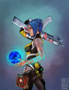 Borderlands 2 Maya the Siren Fan Art Prints and Posters