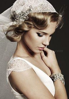 short and long bridal veil - juliet cap veil