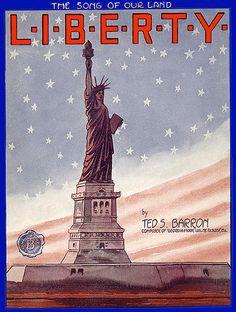 Vintage Patriotic--Vintage Sheet Music--L I B E R T Y