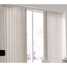 This stone coloured #verticalblind has a casual design of random white swirls, the modern effect and chic colouring looking great in many different settings. From £41.Online at http://www.polesandblinds.com/loopline-silver-vertical-blind #living rooms to teenager's bedrooms. #interiordesign