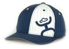 ELIMINATOR Navy Blue and White Pinstripe HOOey cap! Features HOOey man inlaid in blue pinstripe fabric inside of the white patch! This FLEXFIT cap is available now at: http://www.bunkhousewestern.com/ELIMINATOR_Navy_Blue_White_Pinstripe_Hooey_Cap_p/6806.htm