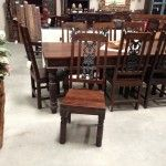 cast iron and solid wood chair from India