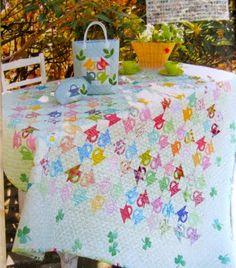 Postage Stamp Baskets from Quilt Japan magazine via cupcakesandaisies.blogspot