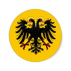 Holy Roman Empire Imperial Banner Round Stickers