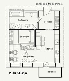 Small Apartment Plan living small with style: 2 beautiful small apartment plans under