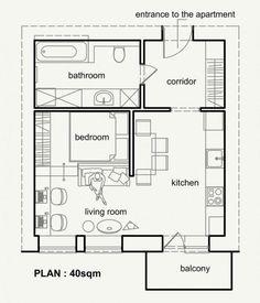Mini apartamento de 40m2 | Decorar tu casa es facilisimo.com