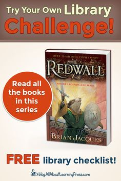 Challenge your child to read all the books in the Redwall chapter book series! Redwall Series, Free Library, Classic Series, Reading Challenge, Chapter Books, Read Aloud, Book Series, Challenges, Child