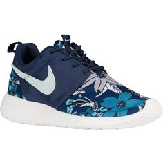 competitive price aae2e 78860 Nike Roshe One Shoes Floral Aloha Print Midnight Navy Fiberglass Sail...  ( 165. Svarta Sneakers