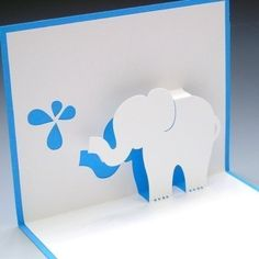 Elle the Baby Elephant PopUp Card by tracychong on Etsy, $4.50
