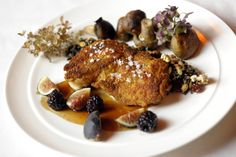 Panseared Chicken with figs