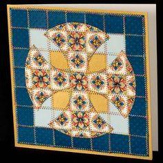 Celtic Quilt Patterns | Celtic Cross Paper Quilt Greeting Card Pattern