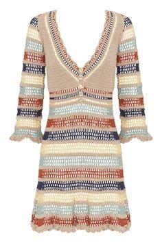 Cotton Crochet, Hand Crochet, Knit Crochet, Crochet Skirts, Crochet Clothes, Dress Vestidos, Dresses, Mother Of Pearl Buttons, Beautiful Crochet