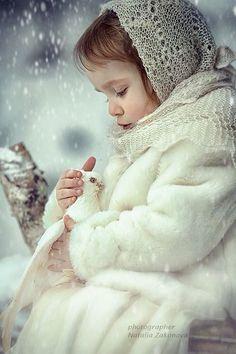 adorable bébé d'hiver