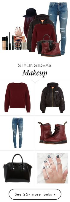"""""""Dree"""" by amour-vicieux on Polyvore featuring Yves Saint Laurent, Vetements, Givenchy, Dr. Martens, Chanel, Lord & Berry, Bare Escentuals, Ilia and Dtk"""
