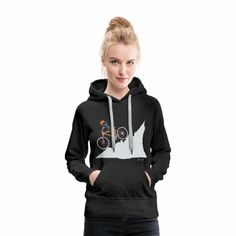 Curious Cute Baby Penguin Women's Premium Hoodie ✓ Unlimited options to combine colours, sizes & styles ✓ Discover Hoodies by international designers now! Cute Baby Penguin, Penguin S, Baby Penguins, Sweat Shirt, V Neck T Shirt, Boo Halloween, Streetwear, Pullover Hoodie, Unisex