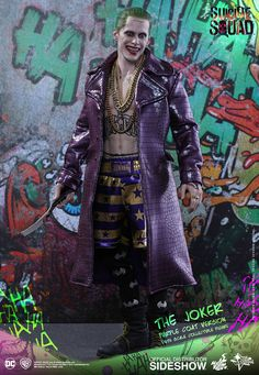 The Exclusive Joker Purple Coat Version Sixth Scale Figure by Hot Toys is available at Sideshow.com for fans of DC Comics, Suicide Squad and Jared Leto.