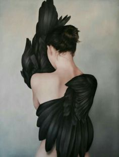 Amy Judd - Art - Peinture - Portrait - Animaux - Girls and birds Art Of Letting Go, Art Du Monde, Fashion Painting, Black Swan, Figure Painting, Painting Art, Modern Oil Painting, Watercolor Painting, Art Inspo