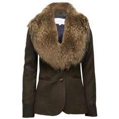 Veronica Beard The Jacket With Fur Collar