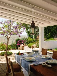 Outdoor dining / villa in Cortijo el Carligto, Andalucia, Spain