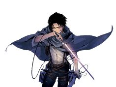 """Levi is one of my favorite characters from any piece of fiction I have read. Notice the """"read"""" because I'm referring to Levi from the manga of attack on titan, rather than the anime (yes there is a slight difference between the two mediums). Levi Ackerman, Attack On Titan Levi, Levi X Eren, Armin, Ereri, Hot Anime Guys, Anime Love, Prince Of Stride, Aot Wallpaper"""
