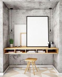 WEBSTA @ archiproducts - Nice workstation, isn't it?Flooring by @ornamentatiles Get inspire on Archiproducts.com#archiproducts #ornamenta #design #workplace #workstation #desk #concrete #wood #interiors #interiordesign #whparchitecture