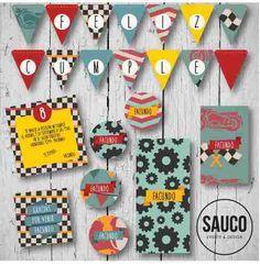 Kit imprimible / Cumpleaños infantiles / Carreras autos y motos / Candy bar y… - Candy Bar Decoracion, Vintage Cars, Hoodies, Sweatshirts, Bodysuits, Holiday Decor, Party, Jumpsuits, Rompers