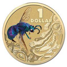 $1 2014 Bright Bugs - Cuckoo Wasp Al-Bronze UNC - Shop - M.R Roberts (Wynyard Coins)