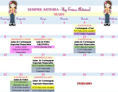 Agenda de aulas para Maio 2016 pag. 1