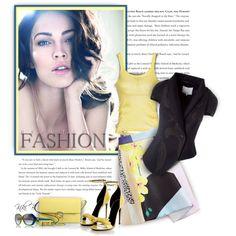 Pop of Spring Yellow by kiki-bi on Polyvore featuring moda, Kenzo, 3.1 Phillip Lim, Gucci, Tory Burch and Giorgio Armani