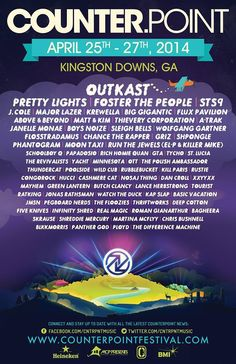 The CounterPoint Music Festival 2014 is finally here! #prettylights #counterpoint #festival