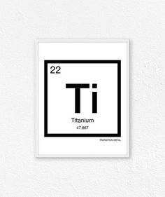 22 Titanium Periodic Table Element Periodic Table Of