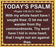 Psalms 119:10-11 KJV
