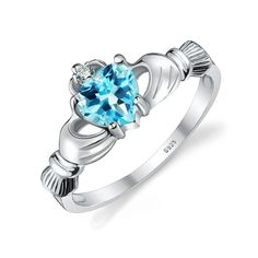 JewelryPalace Nat...  Click To Order  http://jere-miah-jewelry.myshopify.com/products/jewelrypalace-natural-blue-topaz-irish-claddagh-ring-solid-925-sterling-silver-friendship-heart-love-rin-fine-jewelry-for-women?utm_campaign=social_autopilot&utm_source=pin&utm_medium=pin We Ship Worldwide!